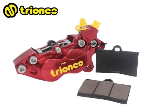 Triones Semi-Sintered Metallic Brake Pad for 40 mm 4 Pot Caliper
